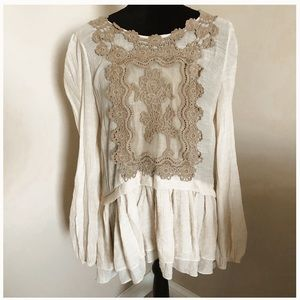 Women's Anthropologie a'reve lace babydoll top